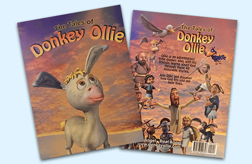 Tales of Donkey Ollie Book Covers Front and Back